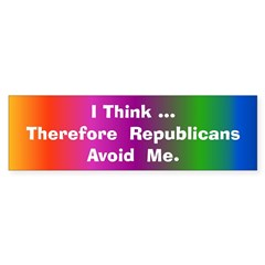 Republicans Avoid Me Bumper Sticker