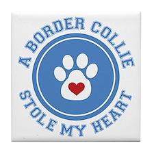 Border Collie - My Heart Tile Coaster