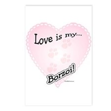 Love is my Borzoi Postcards (Package of 8)