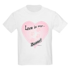 Love is my Boxer Kids T-Shirt
