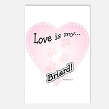 Love is my Briard Postcards (Package of 8)