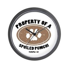 Pomchi dog Wall Clock