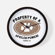 Pomchi dog Wall Clock