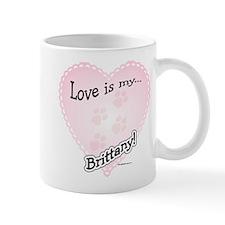 Love is my Brittany Coffee Mug
