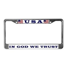 U. S. Motto License Plate Frame