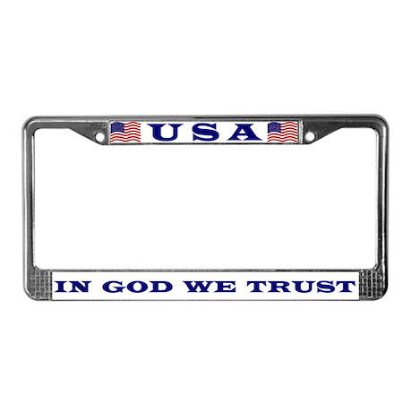 U. S. Motto License Plate Frame