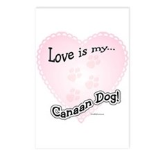 Love is my Canaan Dog Postcards (Package of 8)