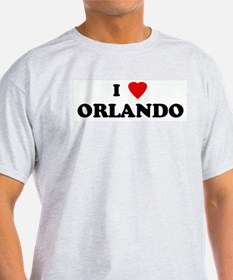 I Love ORLANDO Ash Grey T-Shirt
