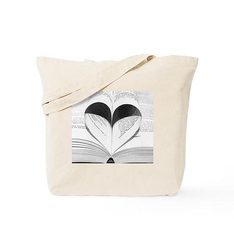 Cute Heart Love of Books Tote Bag