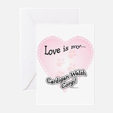 Love is my Corgi Greeting Cards (Pk of 10)
