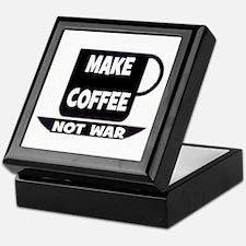 MAKE COFFEE - NOT WAR Keepsake Box