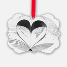Funny Girly Love of Books Ornament
