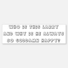 Happy as Larry! Car Car Sticker