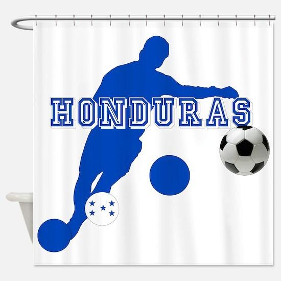 Honduras Soccer Player Shower Curtain