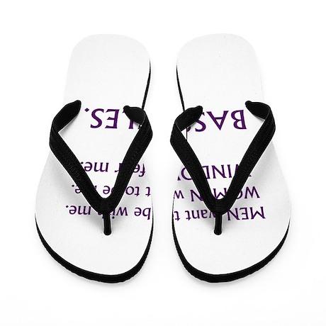 bass rules purple women Flip Flops