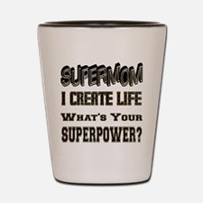 SuperMom Shot Glass