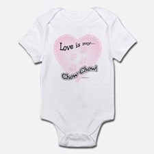 Love is my Chow Chow Infant Bodysuit