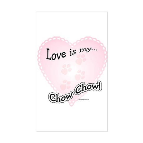 Love is my Chow Chow Rectangle Sticker