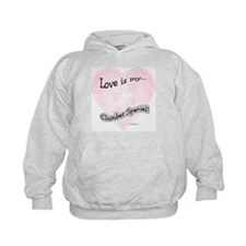 Love is my Clumber Spaniel Hoodie