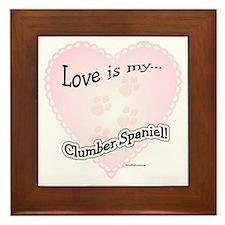Love is my Clumber Spaniel Framed Tile
