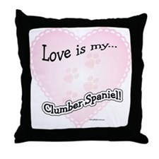 Love is my Clumber Spaniel Throw Pillow