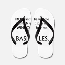 bass rules black text female version Flip Flops