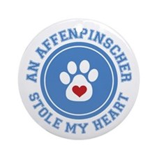 Affenpinscher/My Heart Ornament (Round)