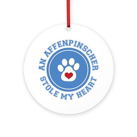 Affenpinscher/My Heart Ornament (Round)