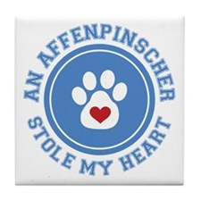 Affenpinscher/My Heart Tile Coaster