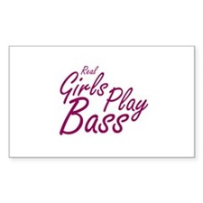 real girls play bass Decal