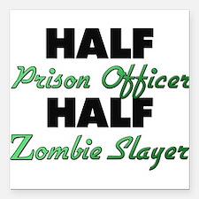 Half Prison Officer Half Zombie Slayer Square Car