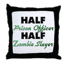 Half Prison Officer Half Zombie Slayer Throw Pillo