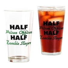 Half Prison Officer Half Zombie Slayer Drinking Gl