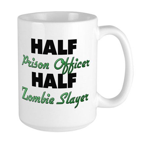Half Prison Officer Half Zombie Slayer Mugs