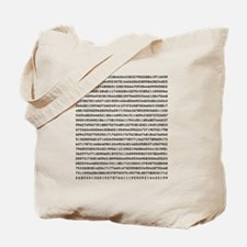 Pi to 1000 Digits Tote Bag