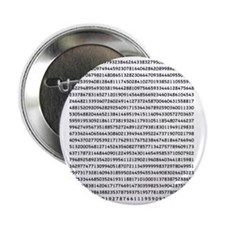 """Pi to 1000 Digits 2.25"""" Button"""