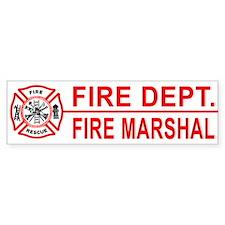 Fire Marshal Bumper Bumper Sticker