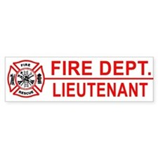 Fire Department Lieutenant Bumper Bumper Sticker