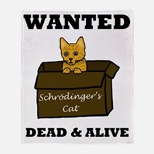 Schrodinger's Cat Throw Blanket