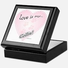 Love is my Collie Keepsake Box