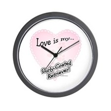 Love is my Curly Coated Retriever Wall Clock