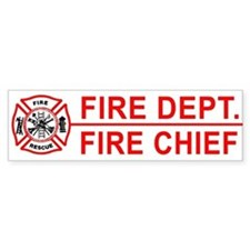 Fire Department Fire Chief Bumper Car Sticker