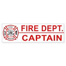 Fire Department Captain Bumper Bumper Sticker