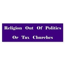 Tax Churches Bumper Bumper Sticker