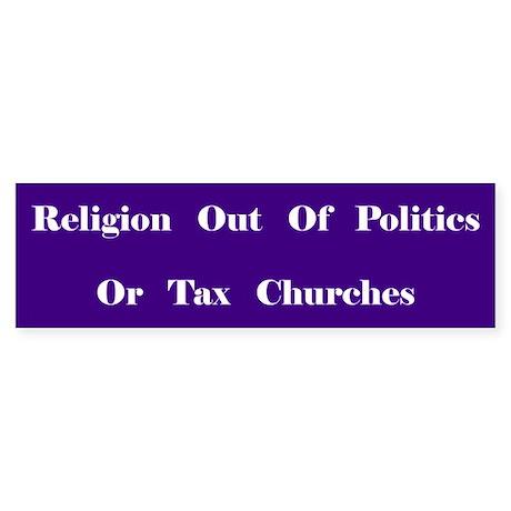 Tax Churches Bumper Sticker