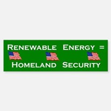 Renewable Energy Bumper Bumper Bumper Sticker