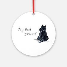 Scottish Terrier AKC Ornament (Round)