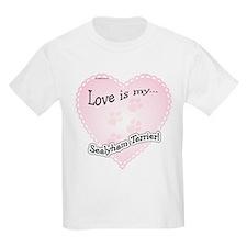 Love is my Sealyham Terrier Kids T-Shirt