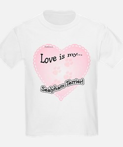 Love is my Sealyham Terrier Kids T-Shirt