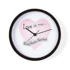 Love is my Sealyham Terrier Wall Clock